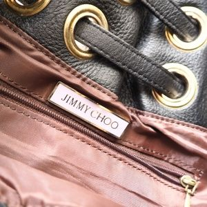 Jimmy Choo Bags - Jimmy Choo Ramona Black Leather Shoulder Bag Purse